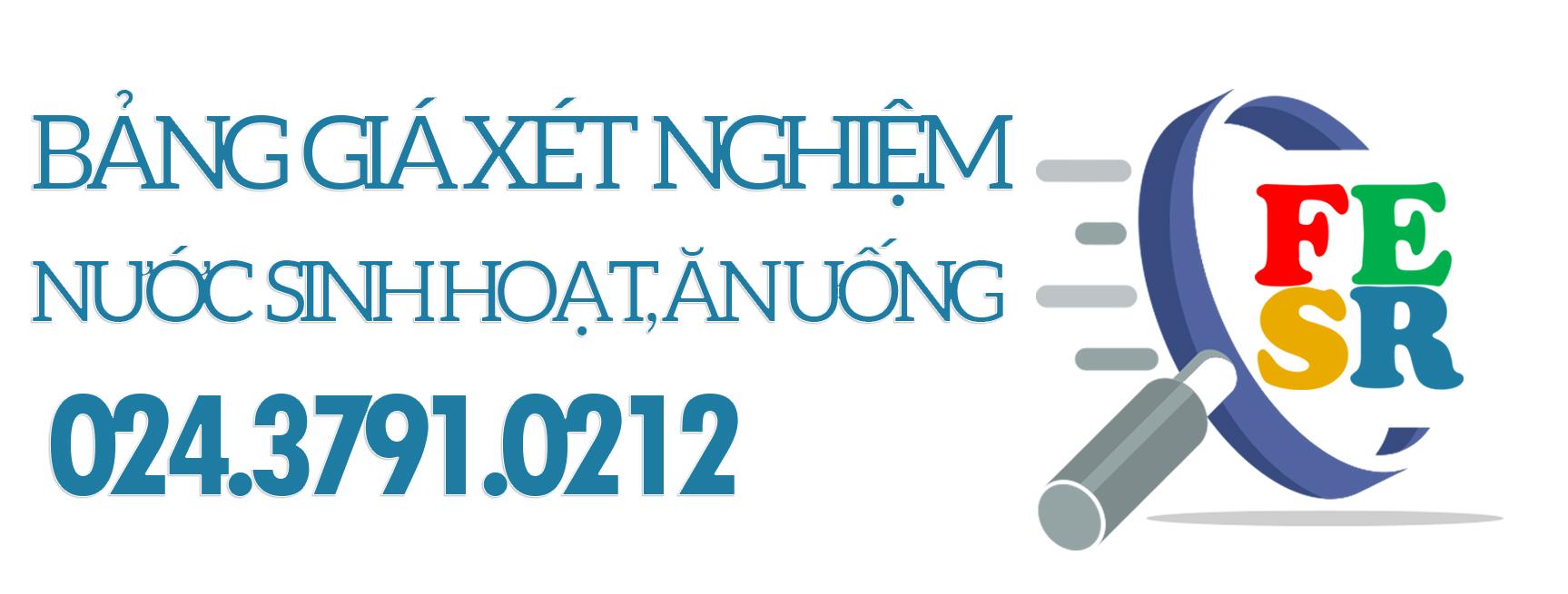 Bảng giá xét nghiệm nước tại Hà Nội