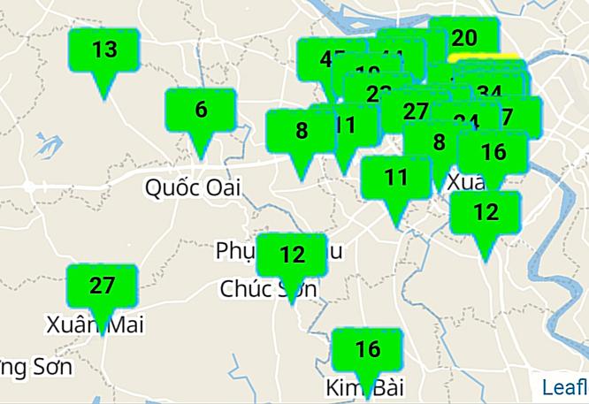 Thêm một ngày chất lượng không khí tại Hà Nội đạt trong lành