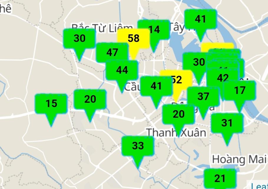 Chất lượng không khí tại Hà Nội tốt, duy trì trong vài ngày tới