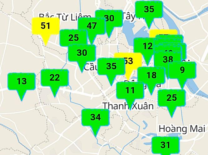 Ngày đầu tháng 10, chất lượng không khí tại Hà Nội đa phần ở mức tốt